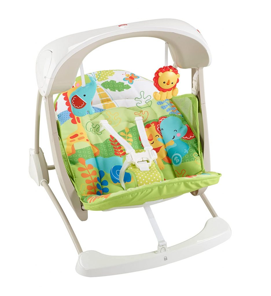 Fisher Rainforest Friends Vibration Baby Swing