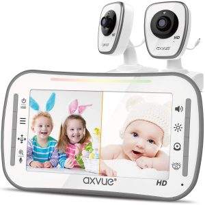 Baby Monitor For Two Rooms Split Screen By Axuve Store