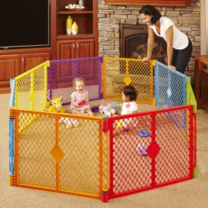 Multi-Color Play Yard for Babies by North States Store