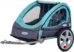 Instep Bike Trailer for Toddlers, Kids, Single and Double Seat, 2-In-1 Canopy Carrier, Multiple Colors