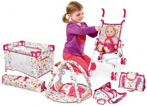 deAO Baby Doll with Stroller 5-in