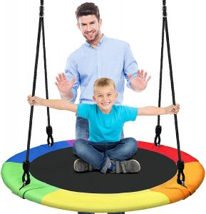 Tree Swing - Hanging Outdoor Spinner by SereneLife Store
